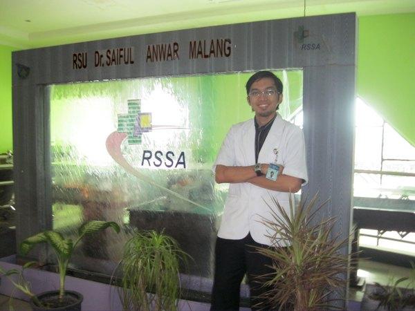 Agam Rosyidi, drg ketika di RS Saiful Anwar Malang